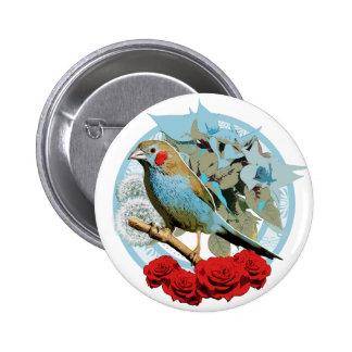 Red Cheeked Cordon Bleu Finch Button