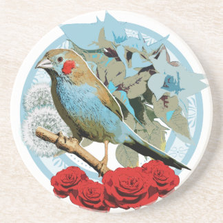 Red Cheeked Cordon Bleu Finch Drink Coaster