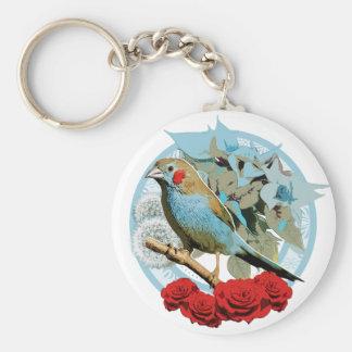 Red Cheeked Cordon Bleu Finch Keychain