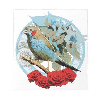 Red Cheeked Cordon Bleu Finch Note Pad