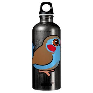Red-cheeked Cordonbleu Aluminum Water Bottle