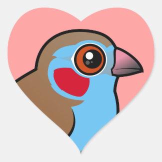 Red-cheeked Cordonbleu Heart Sticker