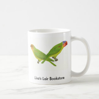 Red-Cheeked Parrot Pair Bookstore Promo Classic White Coffee Mug