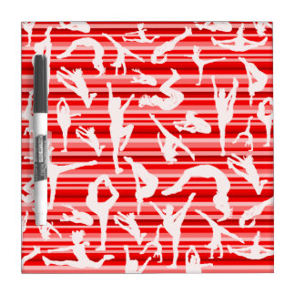 Red Cheer Silhouette Dry Erase Board