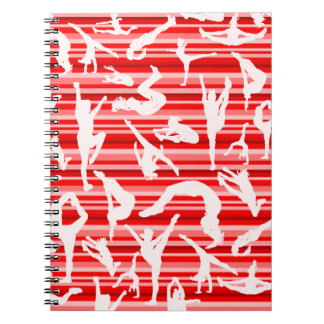 Red Cheer Silhouette Notebook