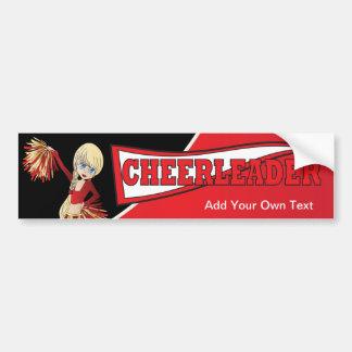 Red Cheerleader Bumper Sticker