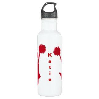 Red Cheerleader Custom Water Bottle