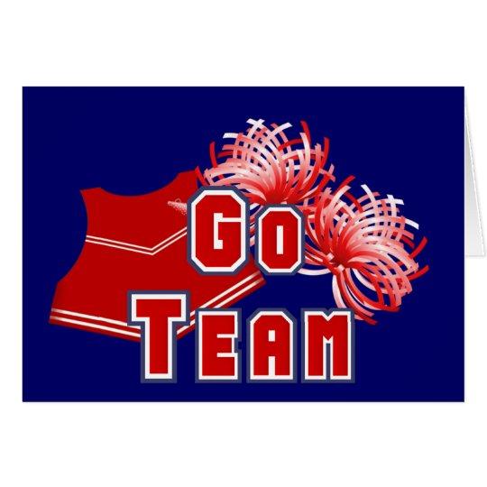 Red Cheerleader Go Team Card