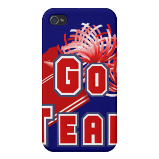 Red Cheerleader Go Team iPhone 4 Cover