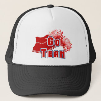 Red Cheerleader Go Team Trucker Hat