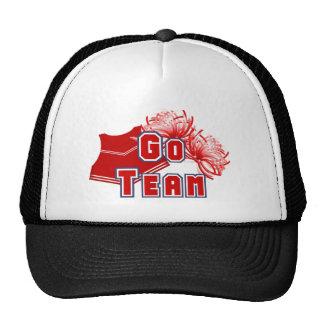 Red Cheerleader Go Team Trucker Hat