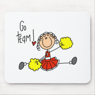 Red Cheerleader Mouse Pad