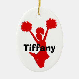 Red Cheerleader Ornament