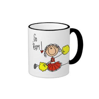 Red Cheerleader Ringer Coffee Mug