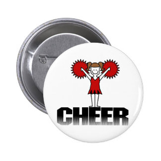 Red Cheerleader T-shirts and Gifts Button