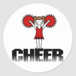 Red Cheerleader T-shirts and Gifts Stickers