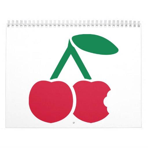Red cherries bite wall calendars