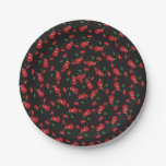 Hand shaped Red Cherries Black or Any Color Birthday Party Paper Plate