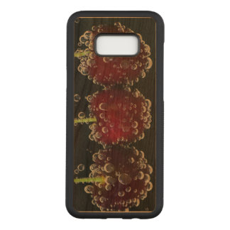 Red cherries in the water carved samsung galaxy s8+ case