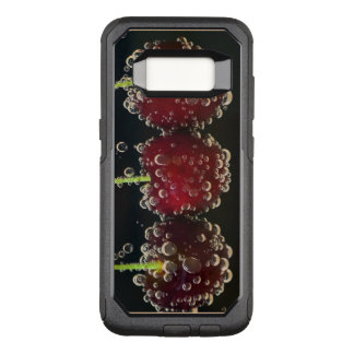Red cherries in the water OtterBox commuter samsung galaxy s8 case