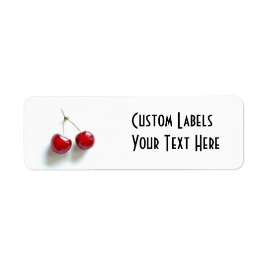 Red Cherries Label