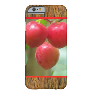 Red Cherries on Brown Bark Barely There iPhone 6 Case