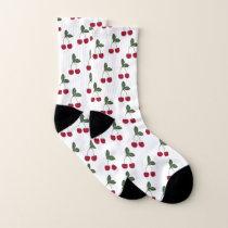 Red Cherries Pattern Socks