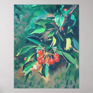 Red Cherries Poster