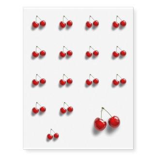 Red Cherries Temporary Tattoos