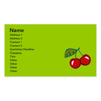 RED CHERRIES VECTOR YUMMY FRUITS FOODS ICON LOGO BUSINESS CARD TEMPLATES