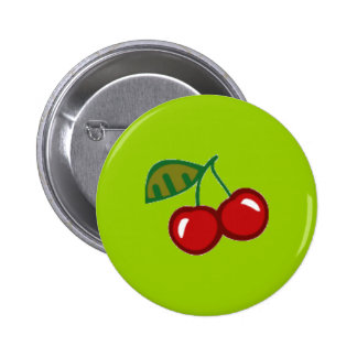 RED CHERRIES VECTOR YUMMY FRUITS FOODS ICON LOGO BUTTON