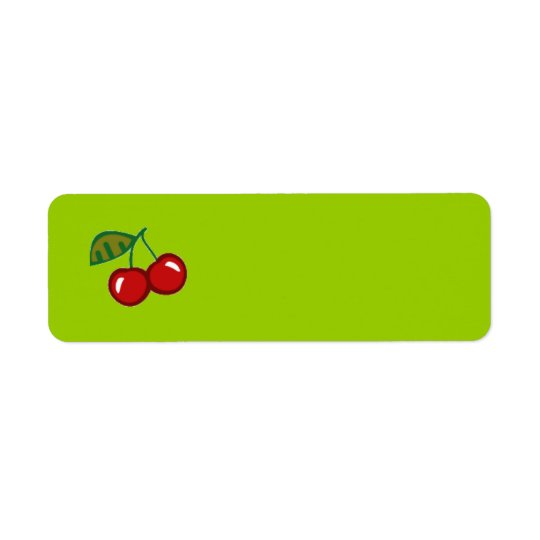 RED CHERRIES VECTOR YUMMY FRUITS FOODS ICON LOGO LABEL
