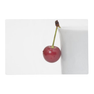 Red Cherry Berry Laminated Placemat