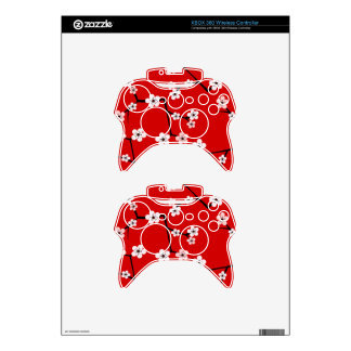 Red Cherry Blossom Print Xbox 360 Controller Skin