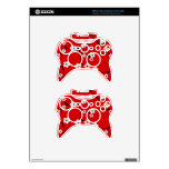Red Cherry Blossom Print Xbox 360 Controller Skins