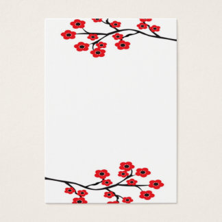 Red Cherry Blossoms Business Card