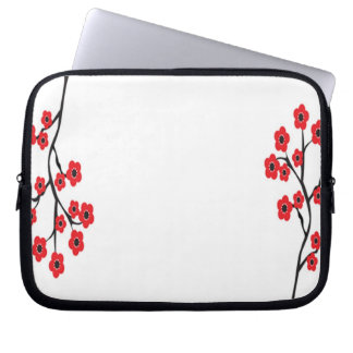 Red Cherry Blossoms Electronics Bag