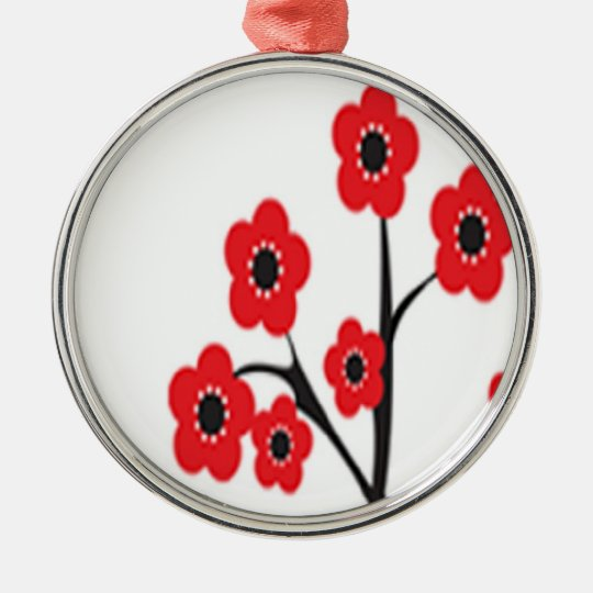 Red Cherry Blossoms Ornament