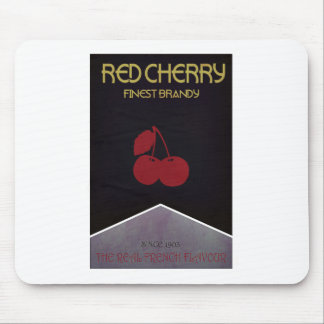 Red Cherry Brand Mouse Pad