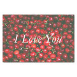 Red Cherry - I Love You (customizable text) Tissue Paper