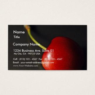Red Cherry In Dark Business Card