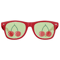 Red cherry party shades   Funny fruit sunglasses