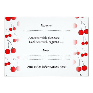 Red Cherry Pattern. Card