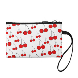 Red Cherry Pattern. Coin Wallet