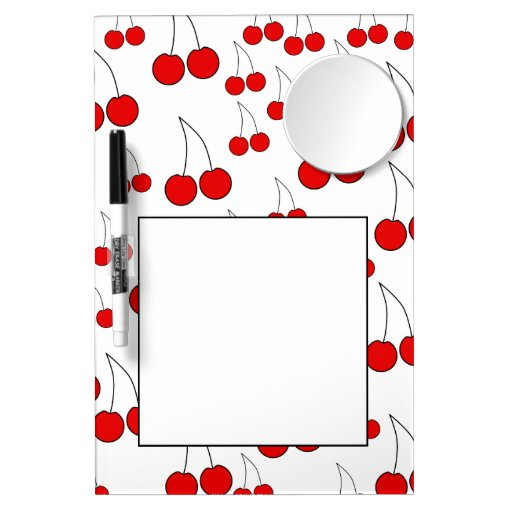 Red Cherry Pattern. Dry Erase Whiteboards