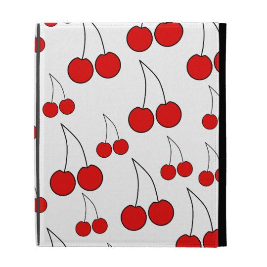 Red Cherry Pattern. iPad Folio Cases