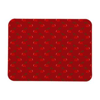 Red cherry pattern rectangular magnets