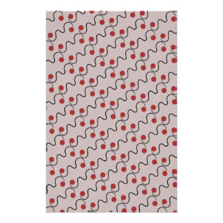 Red Cherry Pattern Stationery Paper