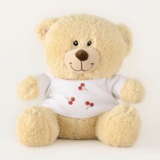 Red Cherry Pattern Vivid Teddy Bear