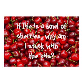 Red Cherry Quote Poster